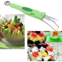 Fruit Melon Baller Scoop Ice Cream Scoop Spoon Tools Kitchen Dessert 8C