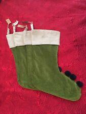 NWT Monogram Removed West Elm Velvet Green Stockings Set Of 4