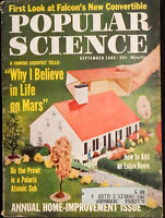 Popular Science Magazine September '62 Cars Space Boats Vintage tech diy details