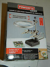 LOUPE et PINCES pour TRAVAUX de Precision LED powerfix HORLOGERIE reparation KIT