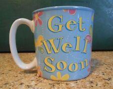 Coffee Cup Mug, Get Well Soon, Burton & Burton, 2005, blue, butterflies, Gift