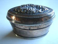 antike Tabatiere, Tabaksdose, Kupfer und Silber