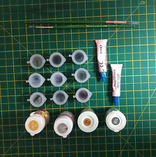 Humbrol Acrylic Paint Job Lot X 13 Glue Brushes Black White Green Grey Airfix