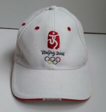 0a5c49a641d Vintage 2008 Beijing Olympic Games Cap Embroidered White. Used.
