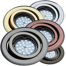 Einbaustrahler GU4 MR11 Schwenkbar Downlight Einbauleuchte Spot LED Halogen OH19