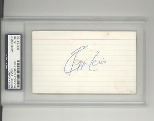 Reggie Lewis auto autograph index card PSA DNA certified signature Boston Celtic