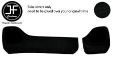 BLACK STITCH TWO PIECE DASH KIT TRIM SUEDE COVERS FOR TOYOTA AYGO 2014-2019
