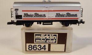 Marklin 8634 Z Scale Konig- Pilsener Beer Reefer Car/Wagon LN/Box