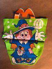 Vintage 1990s McDonalds Happy Meal Halloween Pig Witch Bag