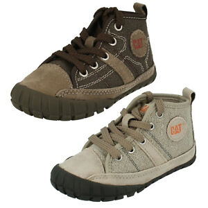 Kids Caterpillar Canvas/Suede Leather Lace Up Mid Cut Boot LINGO CANVAS