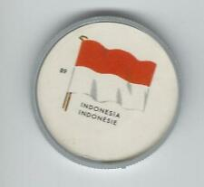 1963 General Mills Flags of the World Premium Coins #89 Indonesia