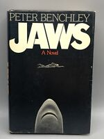 Jaws A Novel Peter Benchley Hardcover 1974 with Dust Jacket 1st Edition