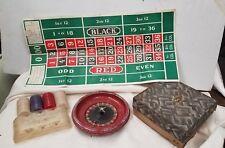 Vintage W.M.F.Drueke Tupper Select Roulette Game w/chips  Circa 1930's-1950's