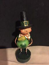 Esc Lori Mitchell St Patrick's Day Lucky Liam Boy Pot Of Gold Figurine