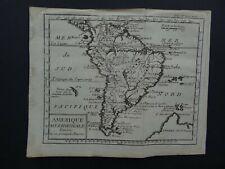 1736 DUFRESNOY Atlas map  SOUTH AMERICA - Amerique Meridionale