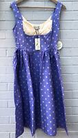 NEW LINDY BOP Size 10 Purple POLKA DOT Rockabilly Swing DRESS Vintage 40s Pinup