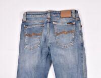 Nudie Jeans Skinny Lin Feder Blau Damen Jeans Größe 29/34