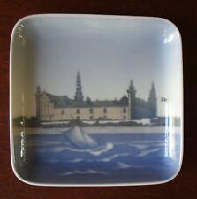 "Bing & Grondahl Kronborg Castle 5"" Square Porcelain Plate Tray"