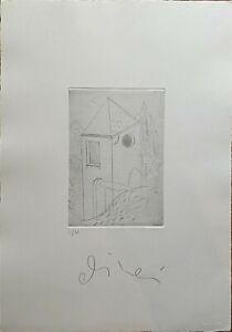 Luca Alinari acquaforte incisione  Casetta 50x35 firmata numerata  I/M