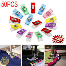 50pcs Sewing Wonder Clips Quilting Clamps Craft Knitting Fabric Crochet Pins
