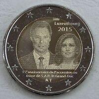 2 Euro Luxemburg 2015 Thronbesteigung Henri unz