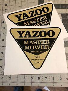 "Yazoo Master Mower Decal 7 1/2"" Set 2"