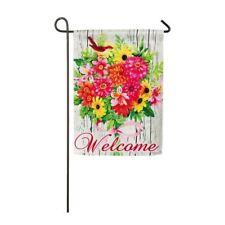 """Evergreen Summer Bouquet 2 Sided Garden Flag,  12"""" x 18"""""""