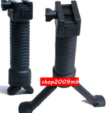2 in 1 Black Quick Release RIS Fore Grip Bipod for Airsoft Rifle Hunting