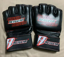 Revgear Men's Leather MMAGloves Black White and Red - XL