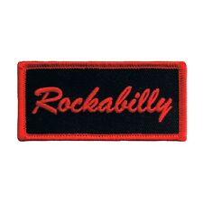 Rockabilly Name Tag Patch Badge Novelty Music Sign Embroidered Iron On Applique