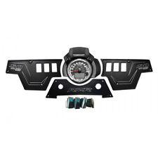 CNC 3 Piece Black Dash Panel Upgrade 4 Additional Switches Polaris RZR XP1000