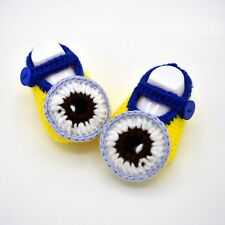 Crochet Baby Shoes Minions , Gift for Infant or Newborn, Handmade Crib Shoes