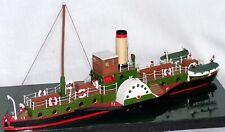 105ft Steam Paddle Boat NMB12 UNPAINTED N Gauge Scale Langley Models Kit 1/148
