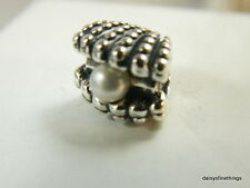 NEW! AUTHENTIC PANDORA CHARM  ONE OF A KIND SEASHELL W/PEARL #791134P    P
