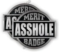 5 Funny A-HOLE Hard Hat Motorcycle Helmet StickersBoss Gag Joke Decals Ass