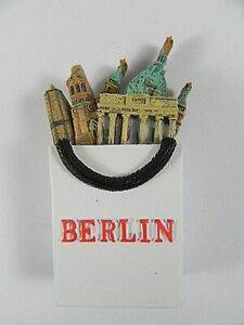 Berlin Brandenburg Gate, Cathedral Souvenir Magnet Poly 3 D, Germany, 8 CM,