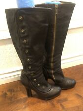 Frye Matilda Button Leather Boots  Brown Size Women 8.5 Victorian Steampunk