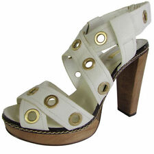 Leather Platforms & Wedges Geometric Heels for Women