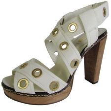 Leather Pumps, Classics Geometric Heels for Women