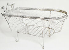 Decorative Silver Wire Bathtub Containers for Spa Soap Lotion Bath Gift Baskets