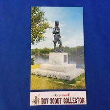 Boy Scout Postcard National Scout Memorial To W.D. Boyce Ottawa, Illinois