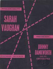 Sarah Vaughan 1960 Tour Program Tour Book Johnny Dankworth Orchestra