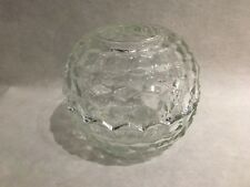 Homco Cubed Pressed Glass Lidded Votive Candle – Dome Shape