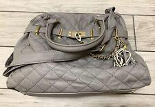 STEVE MADDEN Gray Studded Shoulder Bag Purse Faux Leather Tote