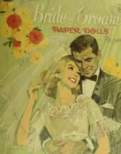 1958 Bride and Groom Paper Dolls Whitman Paper Dolls Book plus Extras