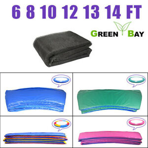 Trampoline Replacement Safety Net Enclosure Spring Cover Pad 6 8 10 12 13 14 FT