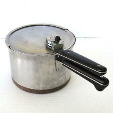 Vintage Revere Ware 4 Quart Stainless Steel Pressure Cooker Copper Clad Bottom