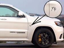 2 Black HellHawk Emblems fits Jeep Trackhawk Grand Cherokee Left + Right Sides