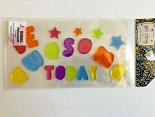 NEW Gel Window Cling Decorations BE awesome TODAY 18 pcs Inspirational Class!
