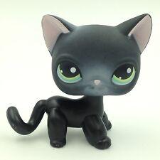 #336 Littlest Pet Shop standing Short Hair cat LPS toys black kitty no magnet